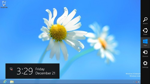 Windows 8 Charms Bar
