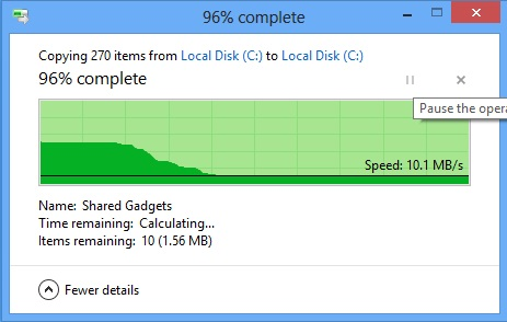 Windows 8 Copy dialog