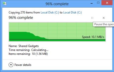Windows 8 Copy dialog