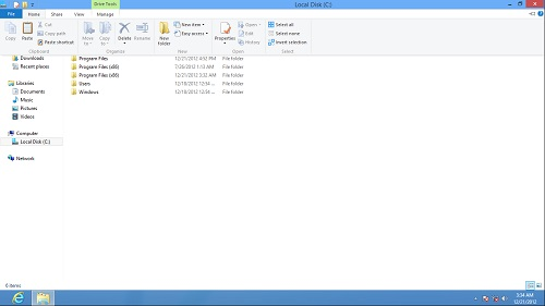 Windows 8 Explorer