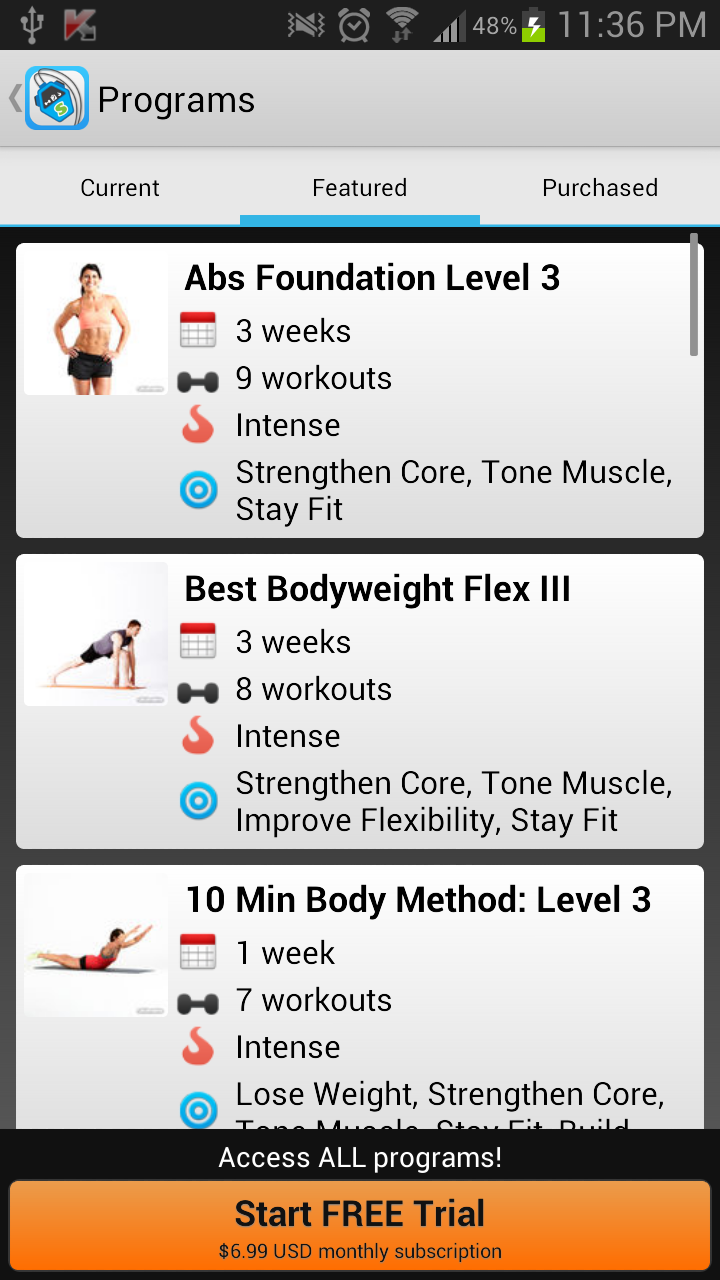 workout trainer programs