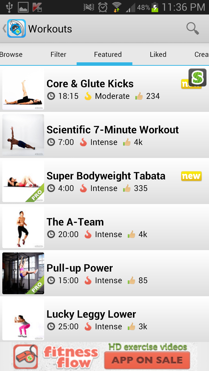 Workout Trainer for Android Workouts
