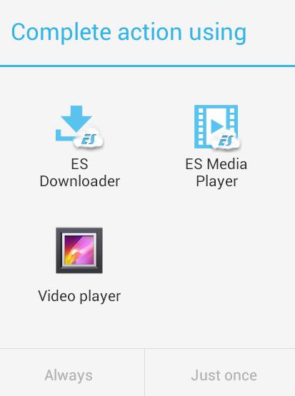 download facebook video with es file explorer