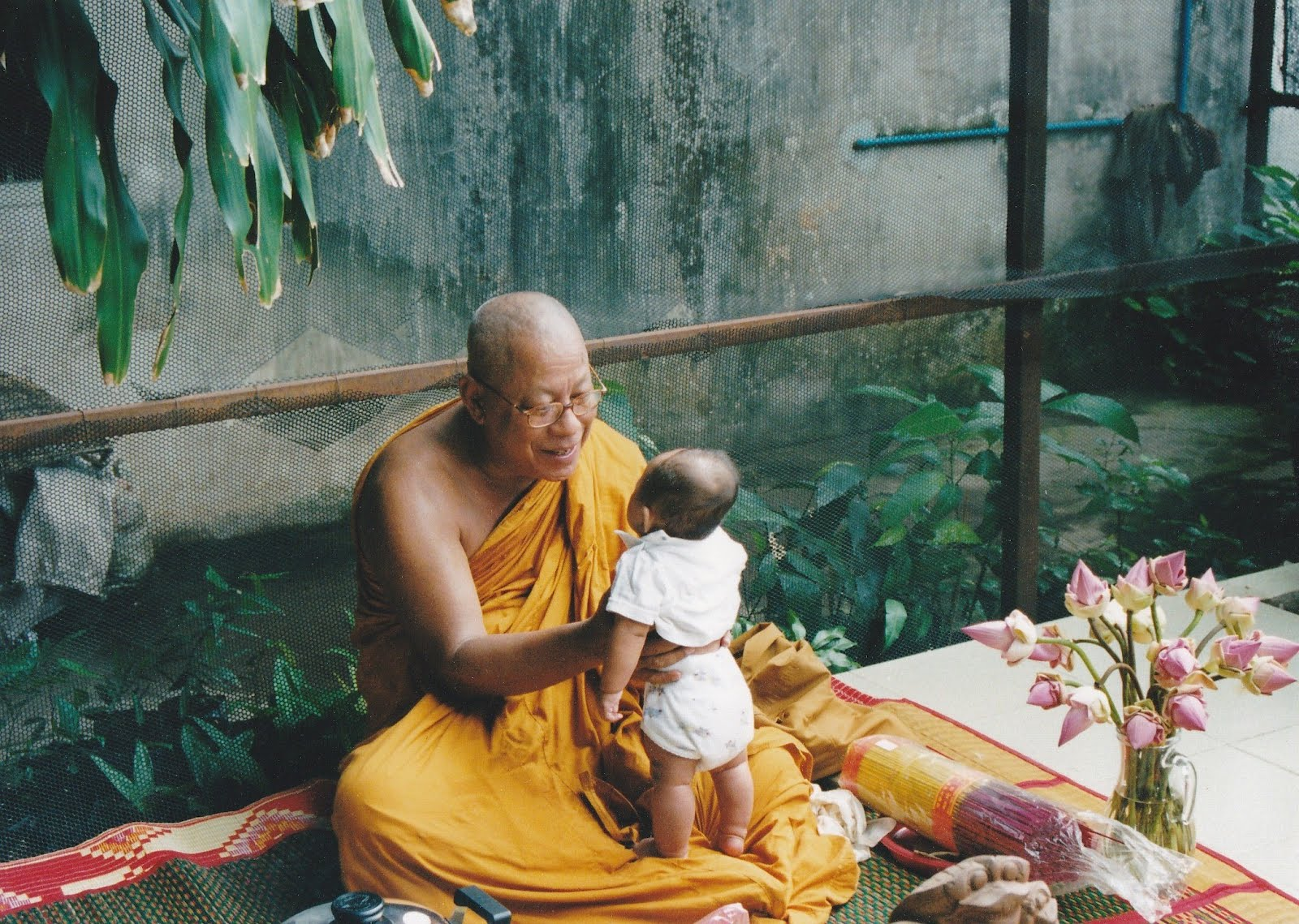 Buddhist baby naming ceremony