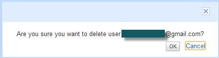 confirm adsense user deletion