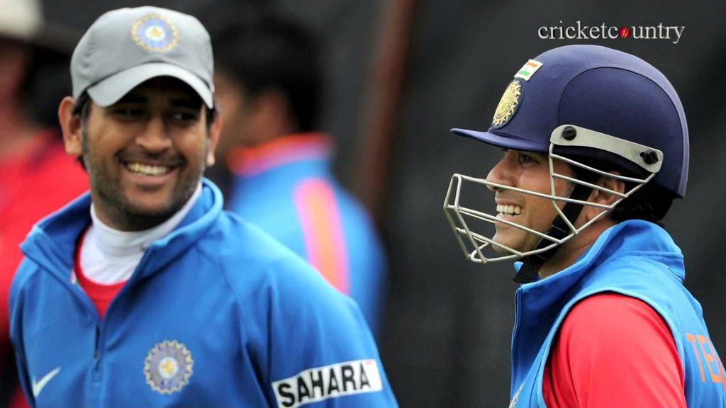 dhoni and sachin