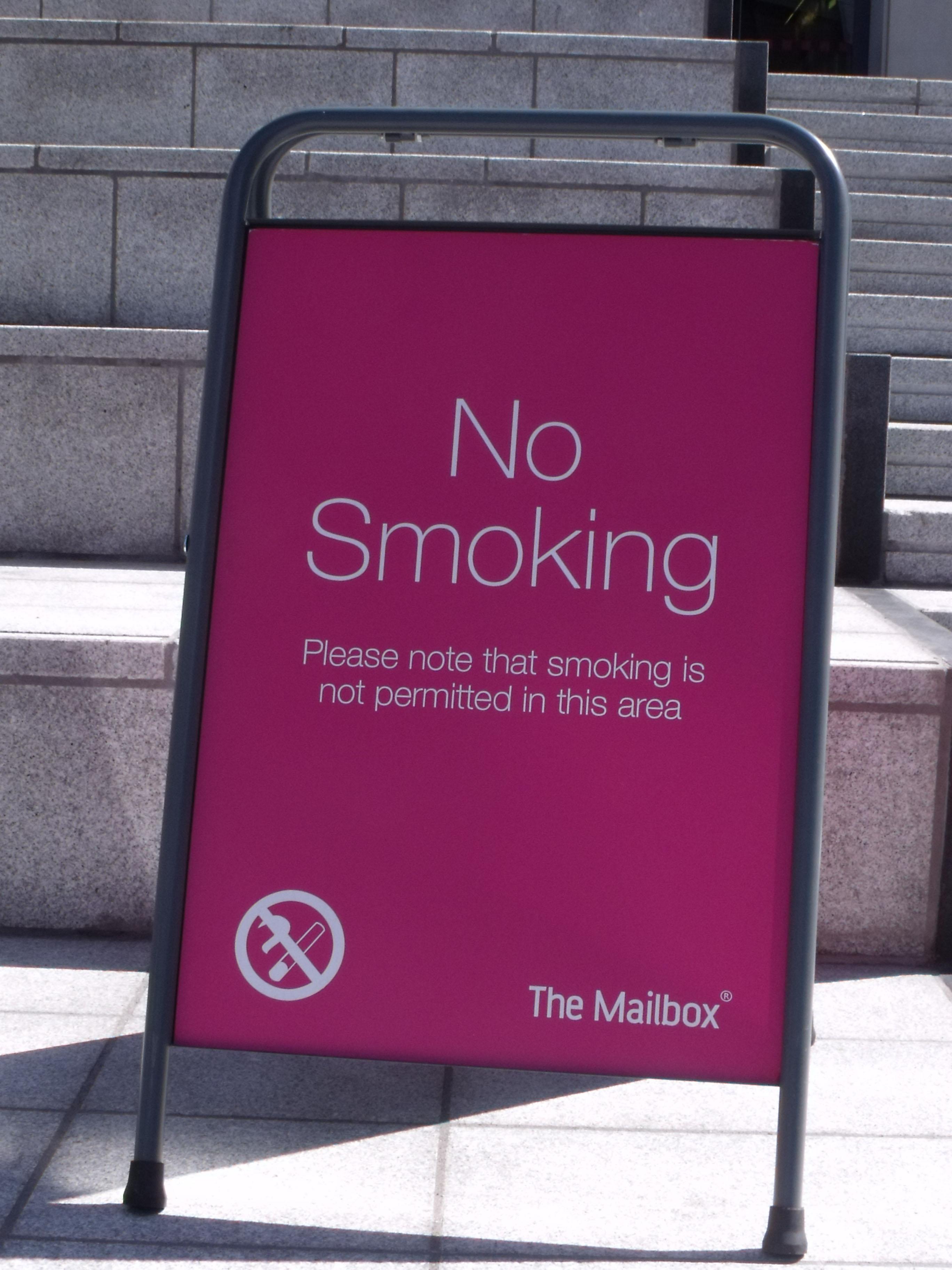 no smoking in public notice