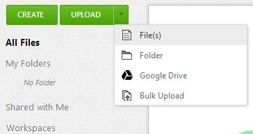 upload file to zoho docs