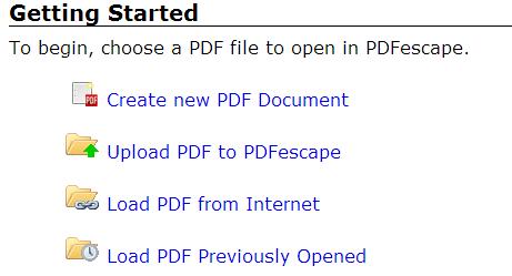 upload pdf to pdfescape