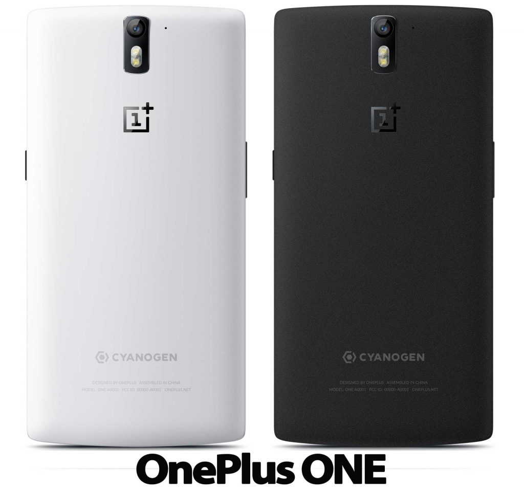 oneplus one white and sandstone black models