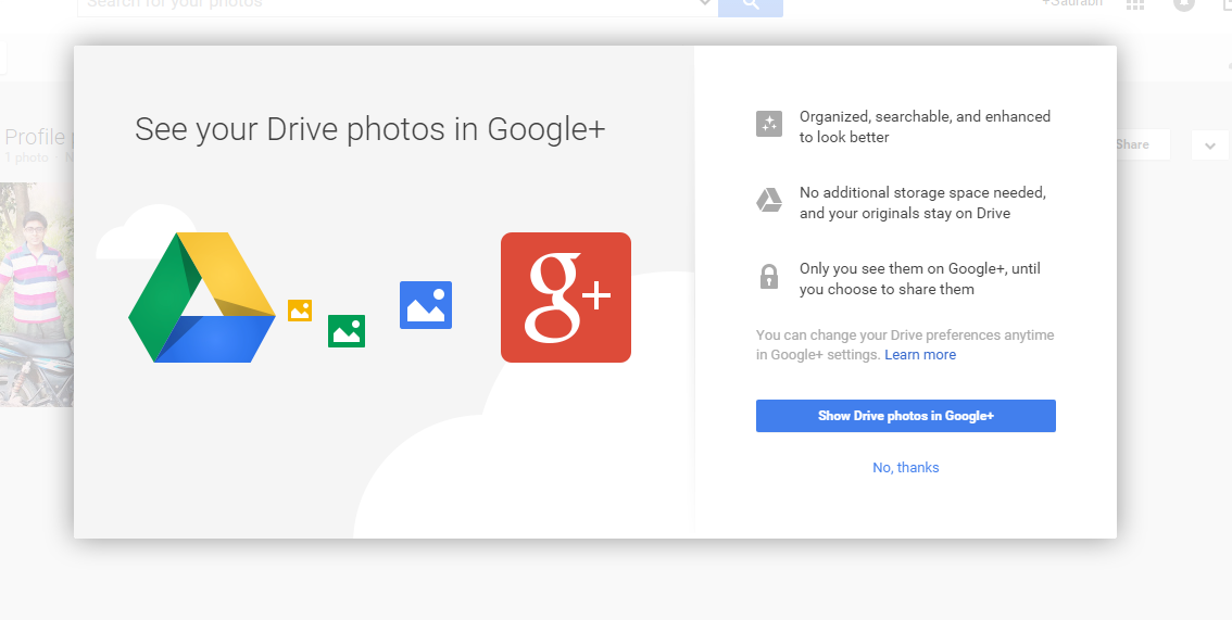 Allow videos from Drive to Google+