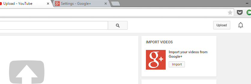Import video from google+