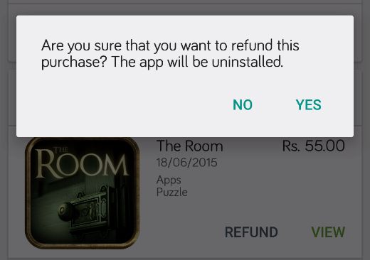 confirm item return refund