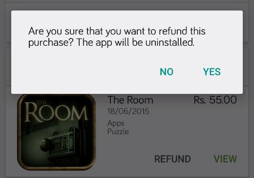 confirm item return refund
