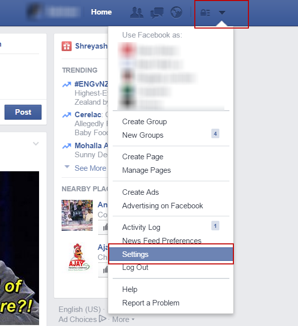 disable facebook email