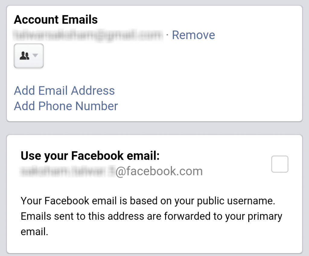 use facebook email