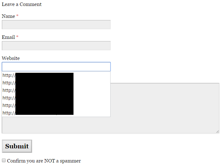 google chrome auto fill entries