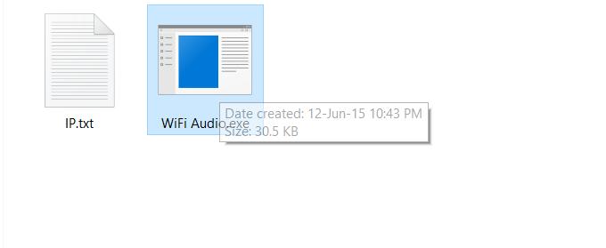 WiFi audio windows server