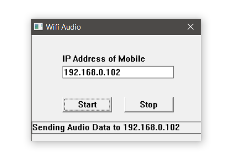 wifi audio connected