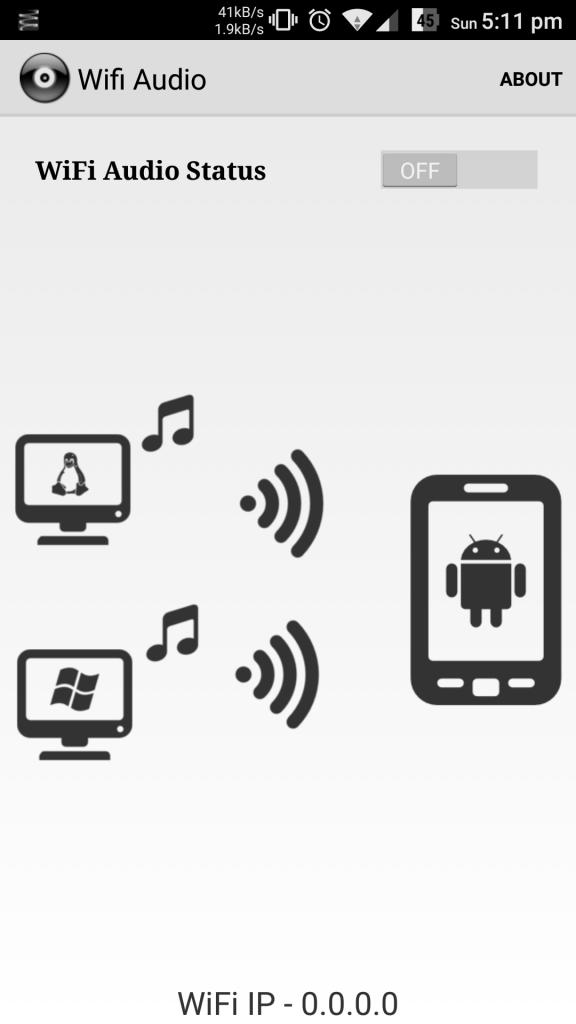 wifi audio off