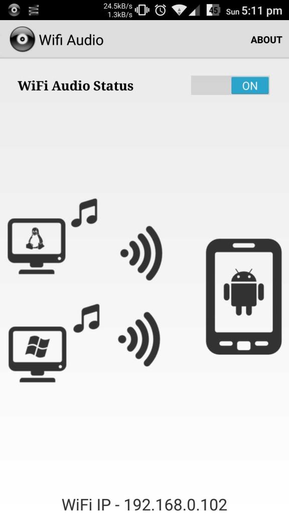 wifi audio on