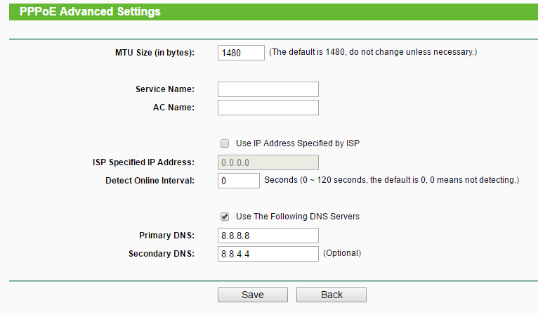 dns settings on router