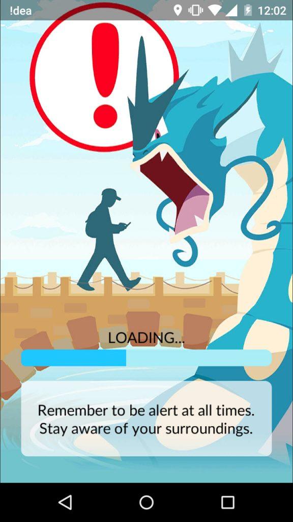 be alert pokemon go warning