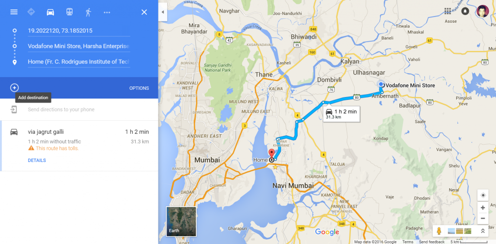 google maps multiple destinations