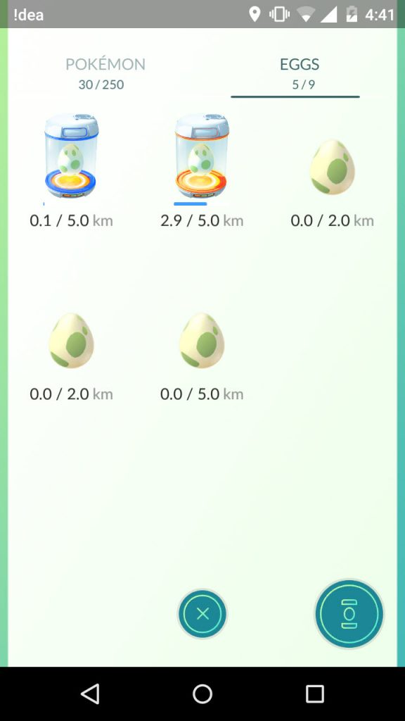 pokemon eggs and incubators