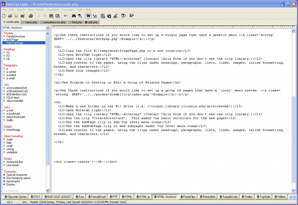 notetab screenshot