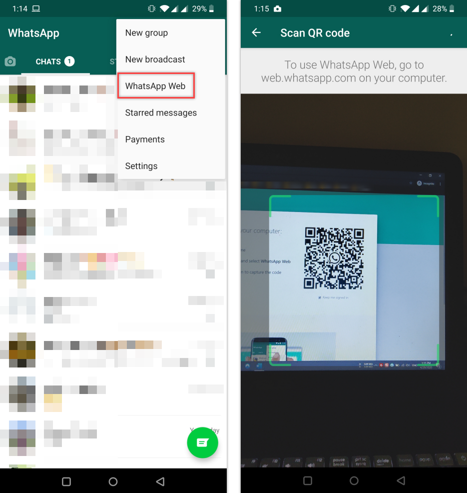 how to set up whatsapp web on your phone